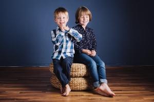 Culte du Beau Fotostudio Kinder Portrait Sofja und Gleb